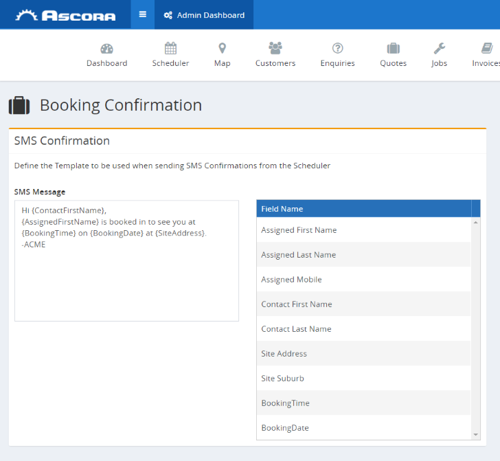 Booking Confirmation Template